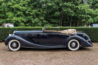 Delage D8-120 cabriolet by Chapron 1937 side