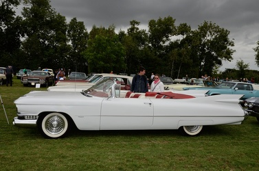 Cadillac 62 convertible coupe 1959 white side