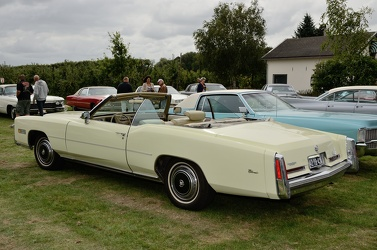 Cadillac Eldorado convertible coupe 1976 yellow r3q